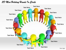 1813_3d_men_holding_hands_in_circle_ppt_graphics_icons_powerpoint_Slide01