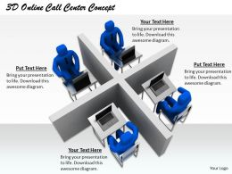 1813 3D Online Call Center Concept Ppt Graphics Icons Powerpoint