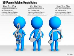 1813 3D People Holding Music Notes Ppt Graphics Icons Powerpoint
