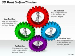 1813 3D People In Gears Directions Ppt Graphics Icons Powerpoint