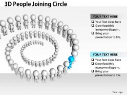 1813 3D People Joining Circle Ppt Graphics Icons Powerpoint