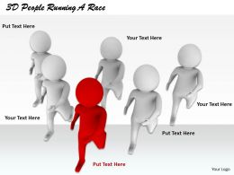 1813 3D People Running A Race Ppt Graphics Icons Powerpoint