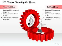 1813 3D People Running On Gears Ppt Graphics Icons Powerpoint