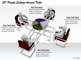 1813 3D People Sitting Around Table Ppt Graphics Icons Powerpoint