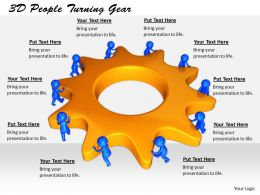 1813 3D People Turning Gear Ppt Graphics Icons Powerpoint