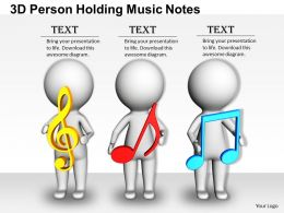 1813 3D Person Holding Music Notes Ppt Graphics Icons Powerpoint