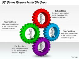 1813 3D Person Running Inside The Gears Ppt Graphics Icons Powerpoint