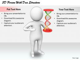 1813 3D Person With Dna Structure Ppt Graphics Icons Powerpoint
