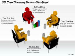 1813 3D Team Discussing Business Bar Graph Ppt Graphics Icons Powerpoint