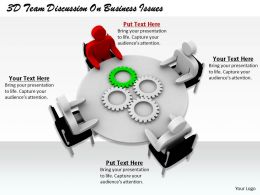 1813_3d_team_discussion_on_business_issues_ppt_graphics_icons_powerpoint_Slide01