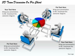 1813_3d_team_discussion_on_pie_chart_ppt_graphics_icons_powerpoint_Slide01