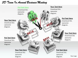 1813 3D Team In Annual Business Meeting Ppt Graphics Icons Powerpoint