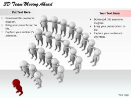 1813 3D Team Moving Ahead Ppt Graphics Icons Powerpoint