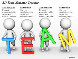 1813 3D Team Standing Together Ppt Graphics Icons Powerpoint