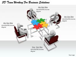 1813 3D Team Working For Business Solutions Ppt Graphics Icons Powerpoint