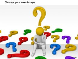 1813 3D Worried Man In Question Mark Ppt Graphics Icons Powerpoint