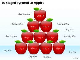 1813 Business Ppt diagram 10 Staged Pyramid Of Apples Powerpoint Template