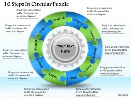 1813_business_ppt_diagram_10_steps_in_circular_puzzle_powerpoint_template_Slide01
