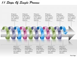 1813 Business Ppt diagram 11 Steps Of Single Process Powerpoint Template