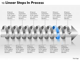1813 Business Ppt diagram 12 Linear Steps In Process Powerpoint Template