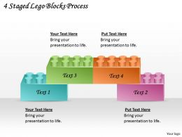 1813 Business Ppt diagram 4 Staged Lego Blocks Process Powerpoint Template