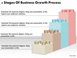 1813 Business Ppt diagram 4 Stages Of Business Growth Process Powerpoint Template