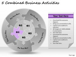 1813 Business Ppt diagram 5 Combined Business Activities Powerpoint Template