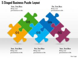 1813 Business Ppt diagram 5 Staged Business Puzzle Layout Powerpoint Template