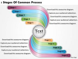 1813 Business Ppt diagram 5 Stages Of Common Process Powerpoint Template