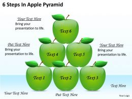 1813 Business Ppt diagram 6 Steps In Apple Pyramid Powerpoint Template