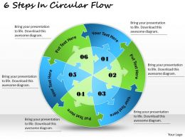 1813 Business Ppt diagram 6 Steps In Circular Flow Powerpoint Template