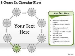 1813 Business Ppt diagram 8 Gears In Circular Flow Powerpoint Template