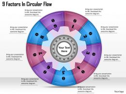 1813_business_ppt_diagram_9_factors_in_circular_flow_powerpoint_template_Slide01