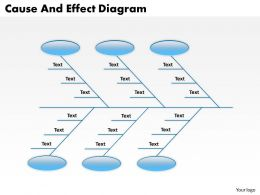 1813 Business Ppt diagram Cause And Effect Diagram Powerpoint Template
