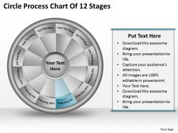 1813 Business Ppt diagram Circle Process Chart Of 12 Stages Powerpoint Template