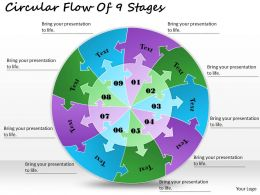 1813_business_ppt_diagram_circular_flow_of_9_stages_powerpoint_template_Slide01