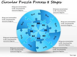 1813 Business Ppt diagram Circular Puzzle Process 8 Stages Powerpoint Template