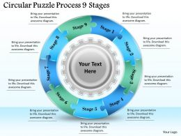 1813 Business Ppt diagram Circular Puzzle Process 9 Stages Powerpoint Template