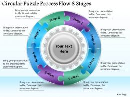 1813 Business Ppt diagram Circular Puzzle Process Flow 8 Stages Powerpoint Template