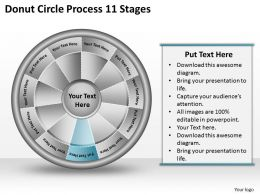 1813 Business Ppt diagram Donut Circle Process 11 Stages Powerpoint Template