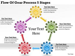 1813 Business Ppt diagram Flow Of Gear Process 5 Stages Powerpoint Template