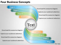 1813 Business Ppt diagram Four Business Concepts Powerpoint Template