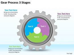 1813 Business Ppt diagram Gear Process 3 Stages Powerpoint Template
