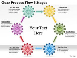 1813 Business Ppt diagram Gear Process Flow 6 Stages Powerpoint Template