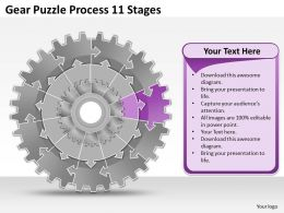 30337060 Style Variety 1 Gears 11 Piece Powerpoint Presentation Diagram Infographic Slide