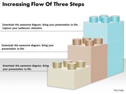 1813 Business Ppt diagram Increasing Flow Of Three Steps Powerpoint Template