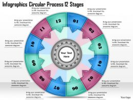 1813 Business Ppt diagram Infographics Circular Process 12 Stages Powerpoint Template