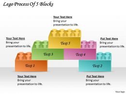 1813 Business Ppt diagram Lego Process Of 5 Blocks Powerpoint Template