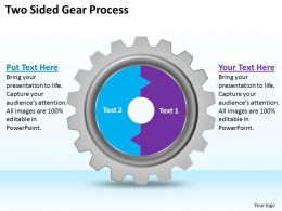 1813 Business Ppt diagram Two Sided Gear Process Powerpoint Template