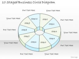 1814 Business Ppt Diagram 10 Staged Business Circle Diagram Powerpoint Template
